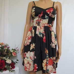 Band Of Gypsies Floral Spaghetti Strap Dress XS
